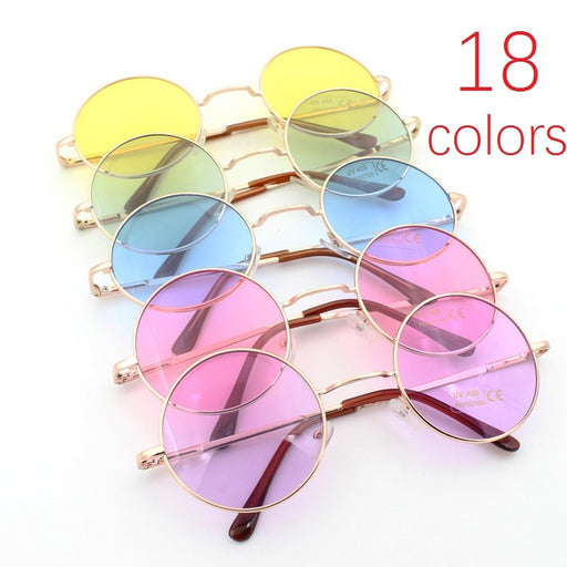 Unisex  Circle Sunglasses Glasses Colorful