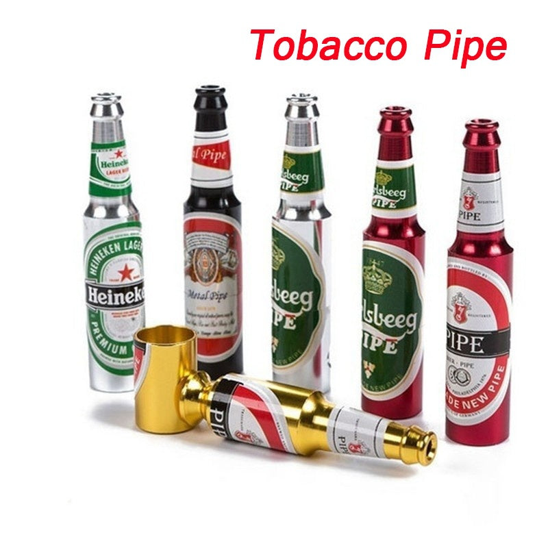 Wine Bottle Shape Metal Tobacco Pipes