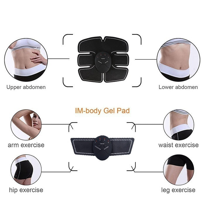 Smart EMS Massager Electrotherapy Back Pain Relief Fit Muscle Stimulator Abdominal Muscles Trainer