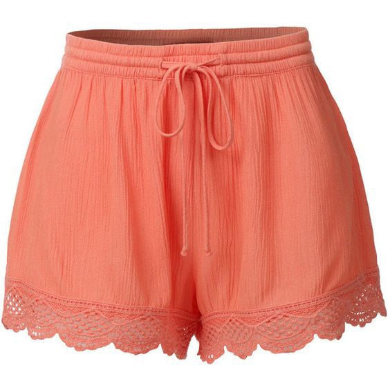 Lace Up Lace Short Pants Summer Causal Shorts Women Shorts