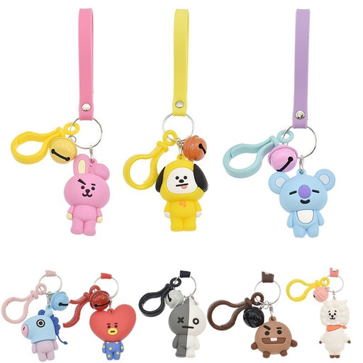 Silicone Cartoon Keychain Car Key Ring Bag Pendant Cute Animal Shape Dog Rabbit TATA V Koala Love Horse