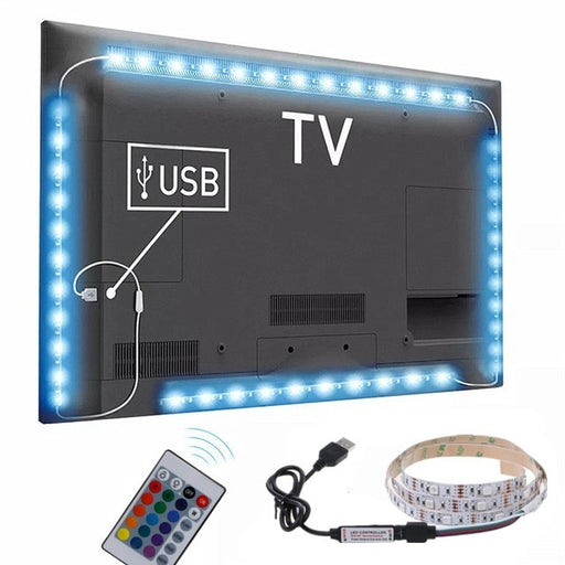 LED Wireless Remote Control Light Neon Interior  Lamp Strip Lights Car Decor 3 Sizes