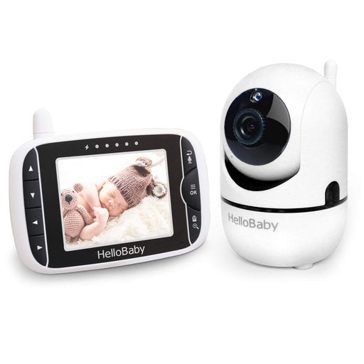 Baby Monitor with Remote Digital Camera 3.2'' LCD Screen, Infrared Night Vision, Black
