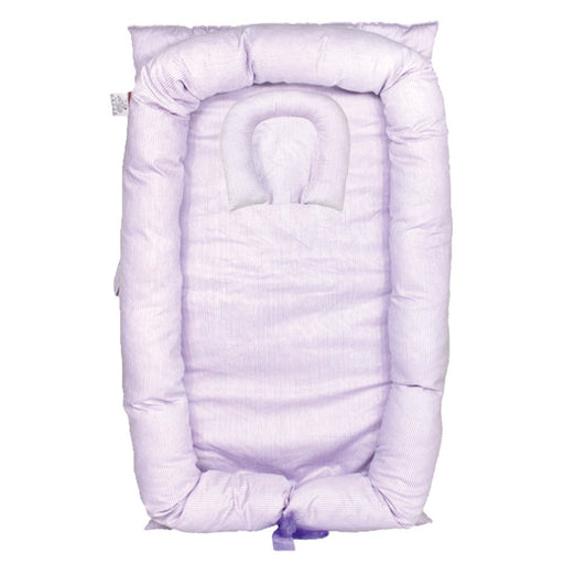 Baby Lounger, Light Purple Baby Lounger Cotton Breathable Portable Baby Crib