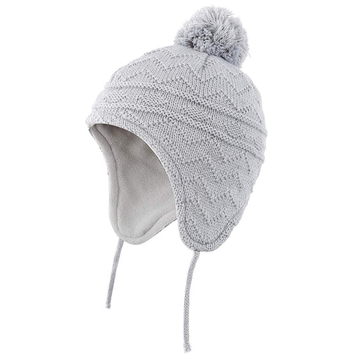 Fleece Lined Knit Kids Hat with Earflap Winter Hat for Toddler, Grey