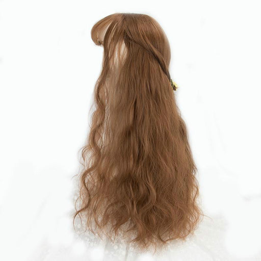 Long Kinky Hair Wig Heat Resistant Synthetic Wigs For Women Natural Fake Hair With Middle Hair Part