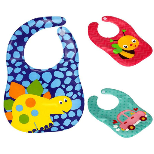 Baby Bibs Clothes EVA Cartoon Print Waterproof Bandana Feeding Apron Towel Baby Bib