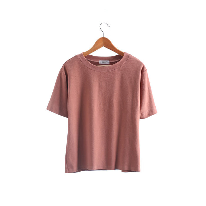 Women  T-shirts Vintage T-shirts Cotton Women O Neck Short Sleeve