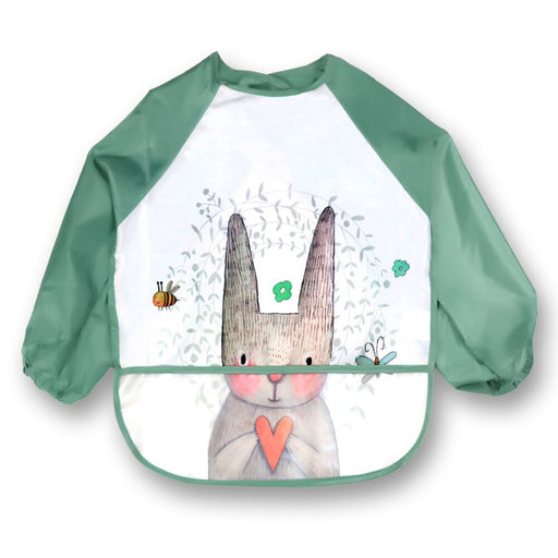 Long Sleeve Baby Bibs Apron Adjustable Burp Cloths Stuff Cute Animals Bavoir Toddler Kids