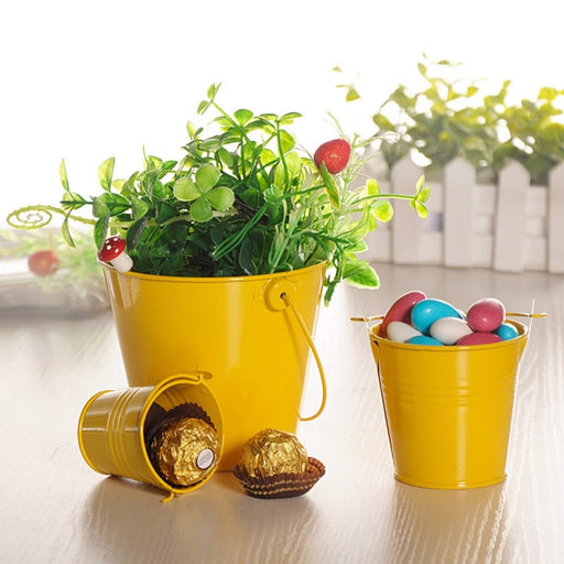 Mini Metal Buckets Colorful Tinplate Pails