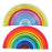Wooden Rainbow Blocks, Creative Rainbow Building Blocks Montessori Educational Toy