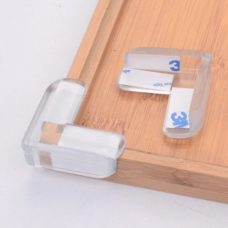 L Shape Transparent Table Protector,4pcs