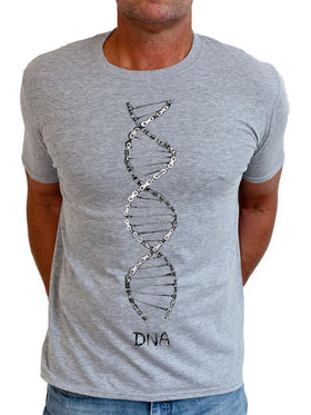 Cycling DNA Mens T Shirt in Grey