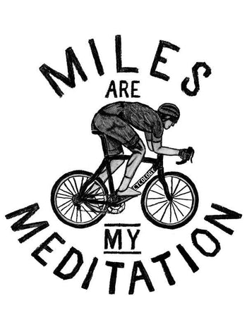 Miles are my Meditation Grey Cycling T Shirts