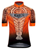 Aztec Mens Cycling Jersey in Orange