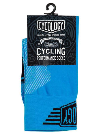 Cycology Blue Cycling Socks