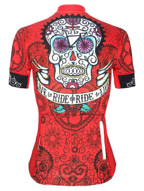 Day of the Living Red Womens Cycling Jersey