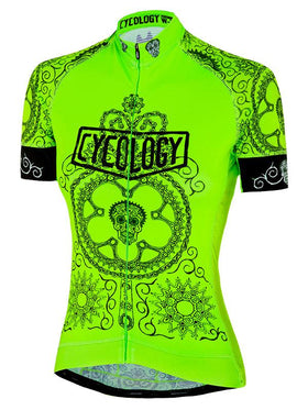 Day of the Living Lime Womens Cycling Jersey  920f8ad0a