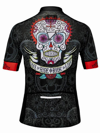 Day of the Living Mens Black Cycling Jersey