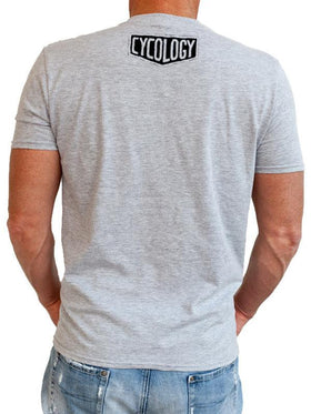 Train Hard Get Lucky Grey Mens Tshirts