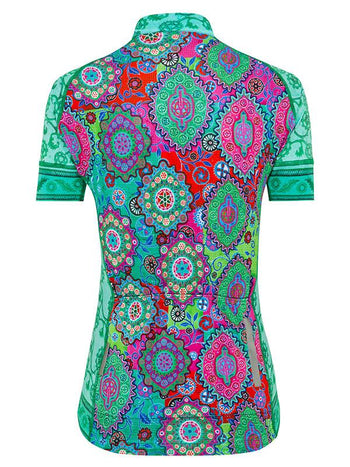 Naisha Womens Green Cycling Jersey | Cycology Clothing US
