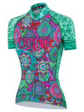 Naisha Womens Green Cycling Jersey