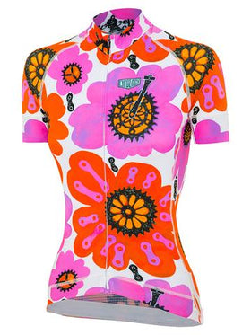 PEDAL FLOWER WOMEN'S JERSEY CYCLING JERSEY