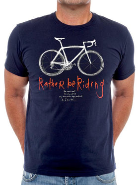 Rather Be Riding Mens Navy T-shirt