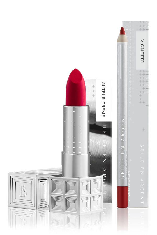 Iconic<br>2D Creme Lip Kit - Belle en Argent Clean Beauty