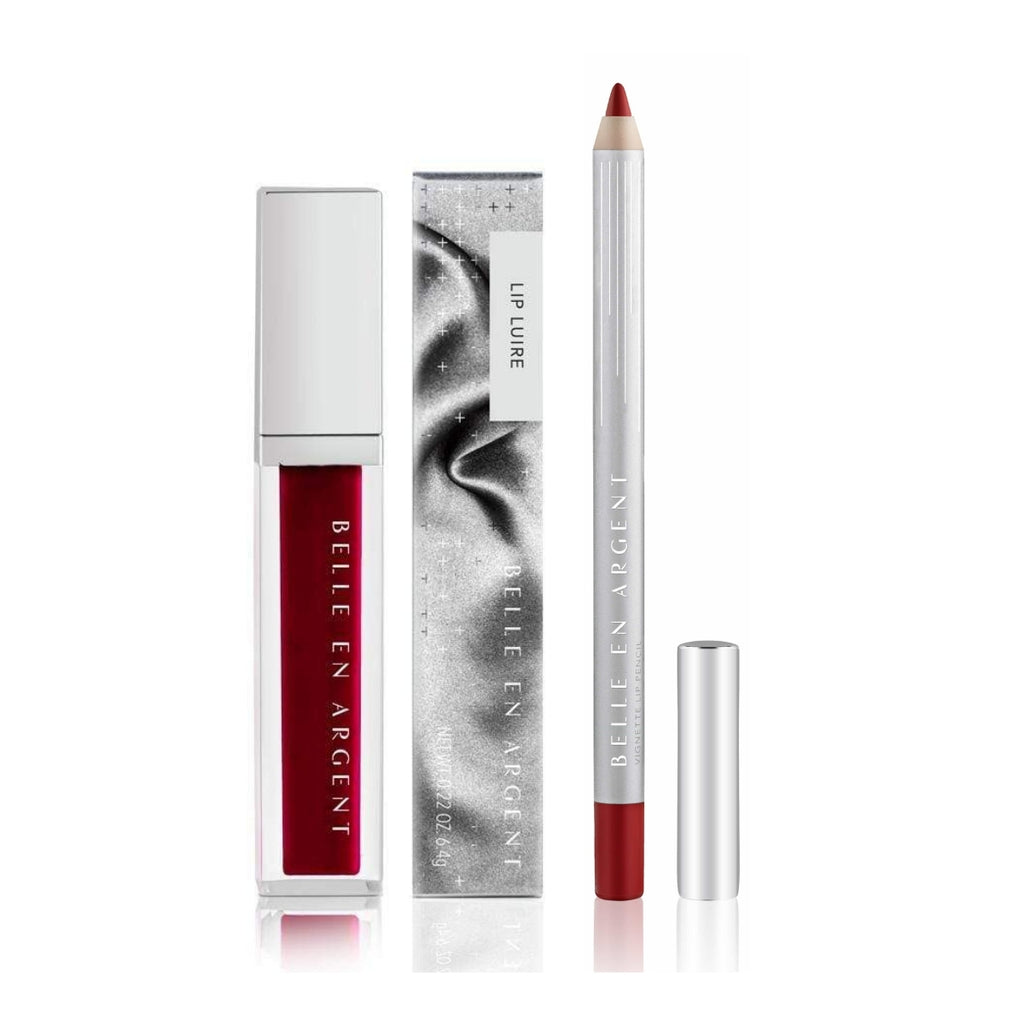 2D Lip Gloss Kit - Red - Belle en Argent Clean Beauty