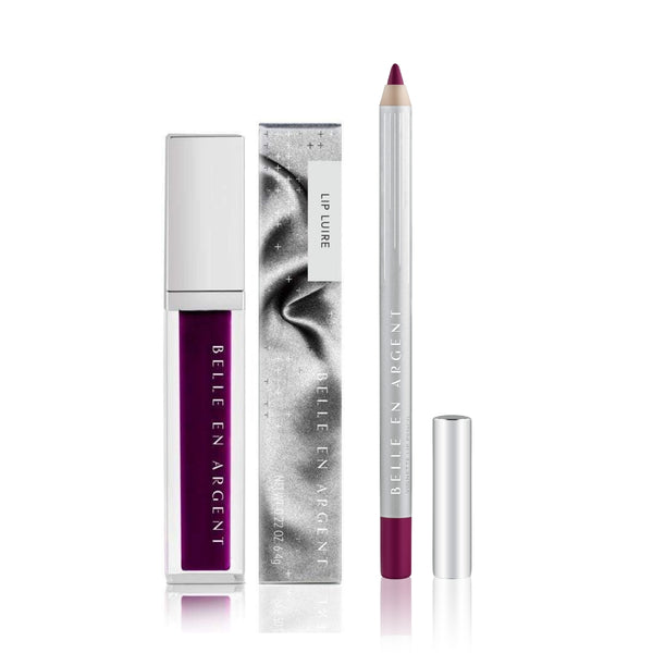 2D Lip Gloss Kit - Plum - Belle en Argent Clean Beauty