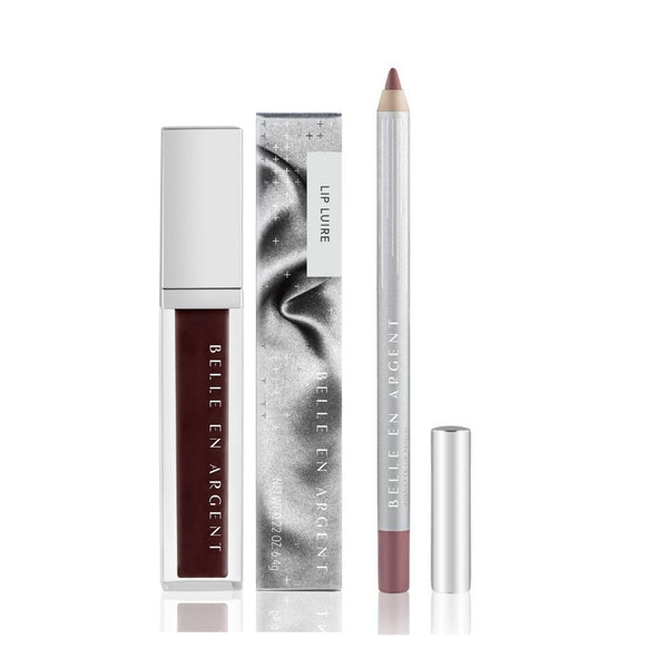 2D Lip Gloss Kit - Brown - Belle en Argent Clean Beauty