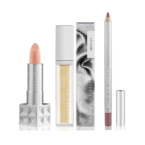 3D Lip Kit - Nude - Belle en Argent Clean Beauty