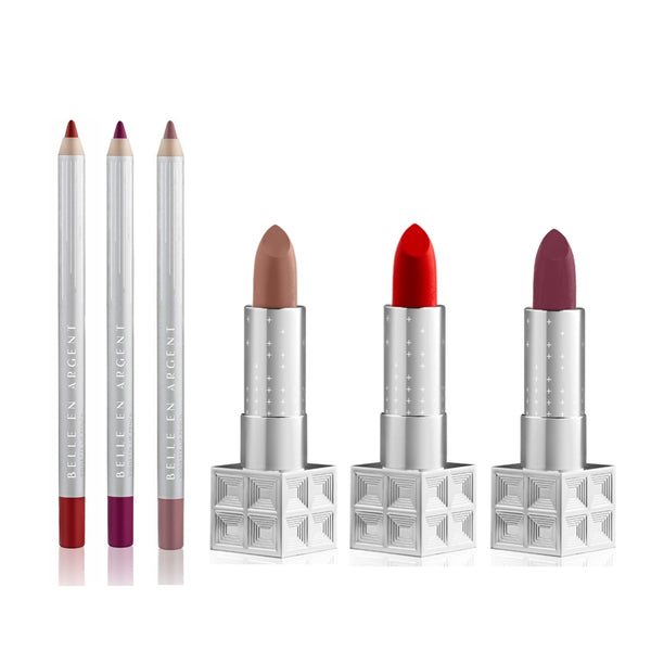 6D Lipstick Kit - Belle en Argent Clean Beauty