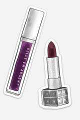 Limited Run Sticker Set: Plum Shades - Belle en Argent Clean Beauty