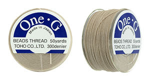 One-G Beading Thread Beige