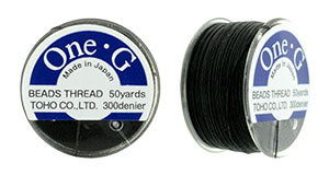 One-G Beading Thread Black
