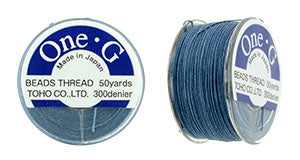 One-G Beading Thread Blue