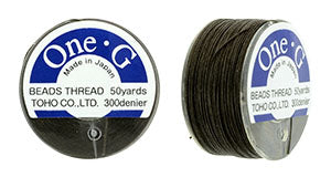 One-G Beading Thread Brown