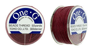 One-G Beading Thread Burgundy