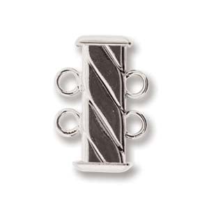 2-Strand Fluted Square Clasp