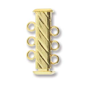 3-Strand Fluted Square Clasp