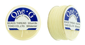 One-G Beading Thread Cream