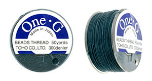 One-G Beading Thread Deep Green