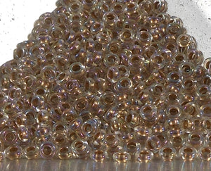 Gold Lined Rainbow Crystal 8/0 Demi