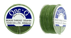 One-G Beading Thread Green