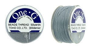 One-G Beading Thread Grey