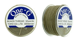 One-G Beading Thread Light Khaki