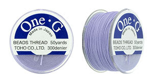 One-G Beading Thread Light Lavender