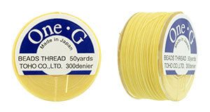 One-G Beading Thread Light Yellow